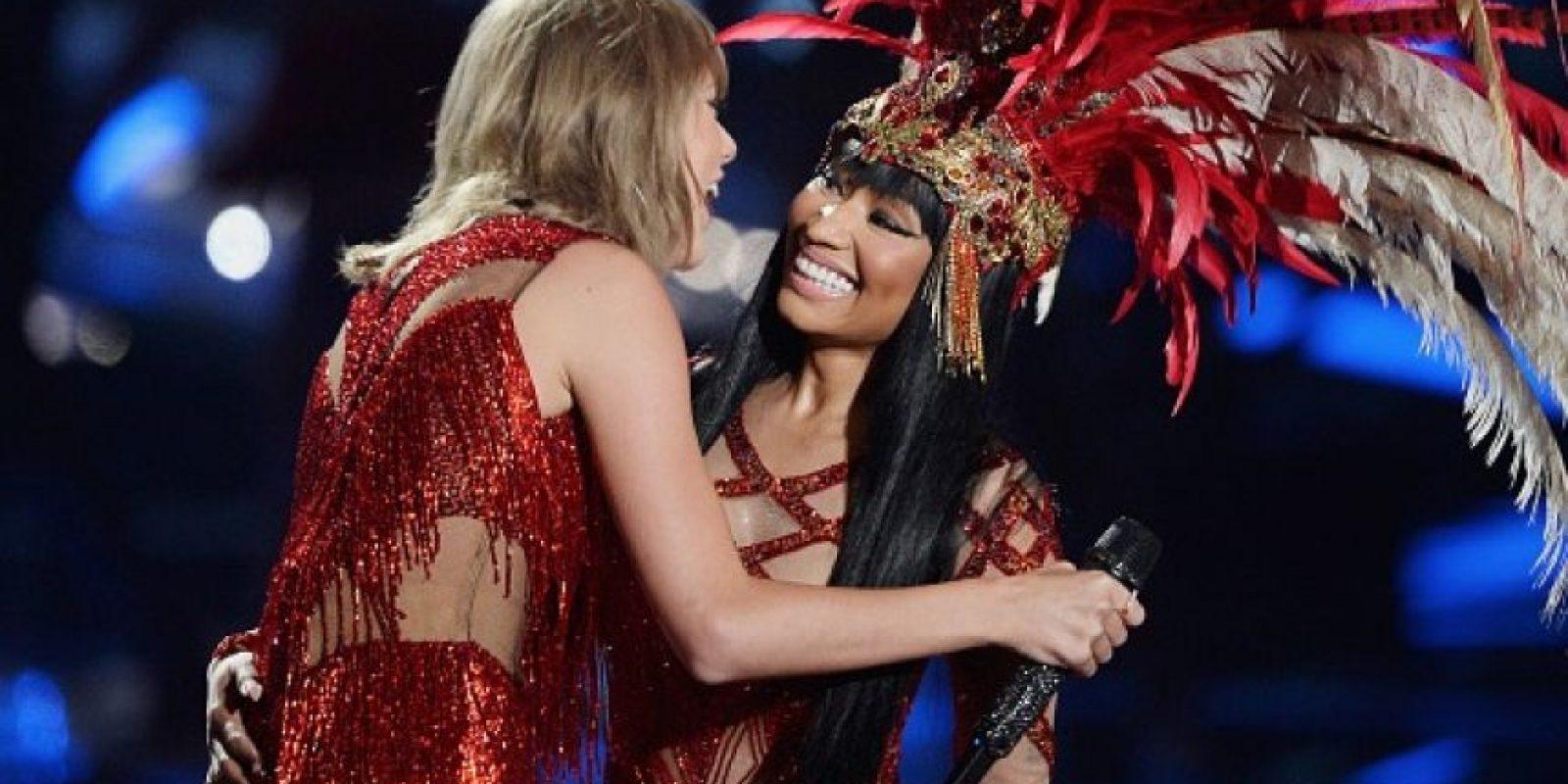 Nicki y Taylor Swift cantaron juntas Foto:Getty Images
