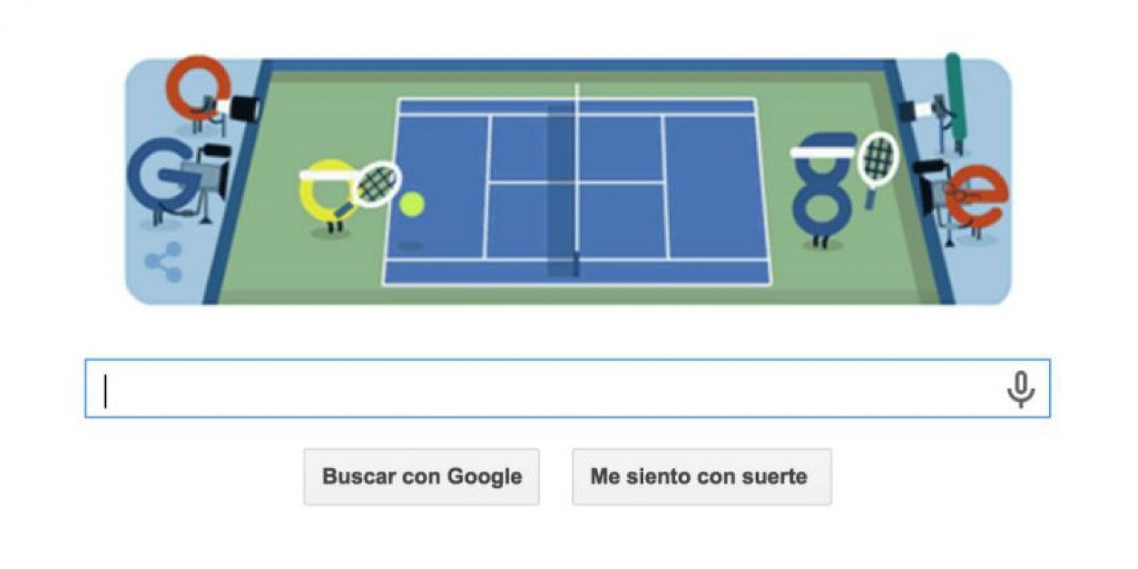 """El """"doodle"""" de Google para el inicio del US Open. Foto:Google"""