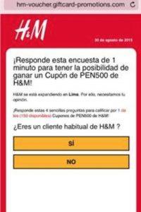 La nueva estafa en WhatsApp utilizando a H&M. Foto:Kaspersky Lab