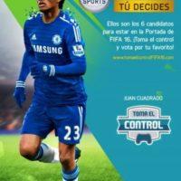Cuadrado recientemente cambió de club y obligó a modificar la portada. Foto:EA Sports