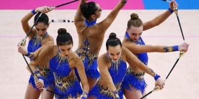 Mundial de Gimnasia Rítmica en Stuttgart, Alemania. Foto:Getty Images