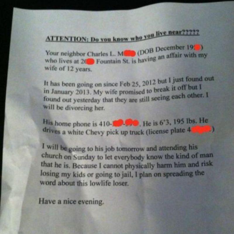 Enviar una carta (y si se la envió al jefe, eso es maldad pura). Foto:vía Twitter