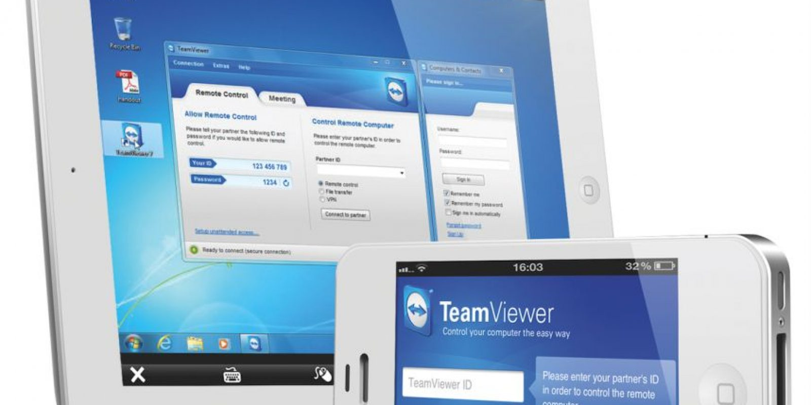 Esta aplicación estándar de la industria también permite el acceso remoto a un computador Foto:Teamviewer