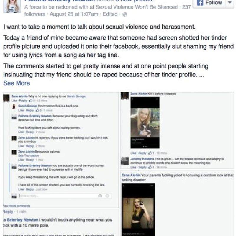 Por eso una de sus amigas creó un grupo para defenderla. Foto:vía Facebook