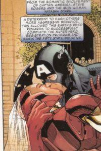 Cabe acotar que en el cómic original de Earth 3490 sí se llegó a dar este beso… pero fue con Natasha Stark. En este Universo, Tony es Natasha. Sí, cosas de la vida (y Marvel). Foto:vía Marvel