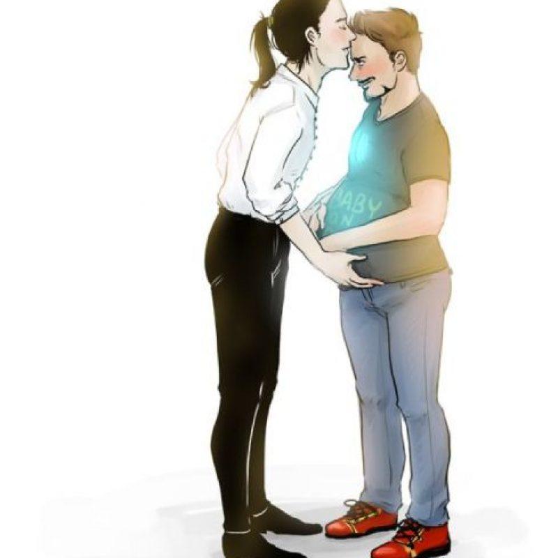 Vean a Tony Stark… embarazado de Loki. Foto:vía Tumblr