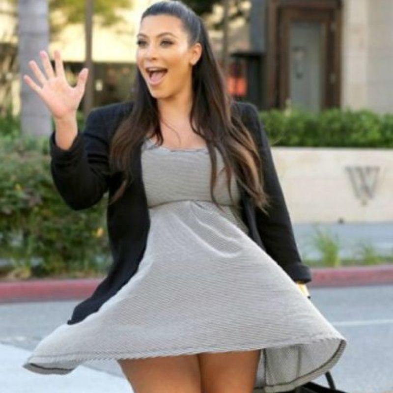 Acá, como Marilyn pero con ropa de saldos. Foto:vía Getty Images