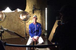 """Novak Djokovic compartió esta imagen tras su primera victoria en el US Open, durante una entrevista para el canal """"ESPN"""". Foto:Vía twitter.com/DjokerNole"""