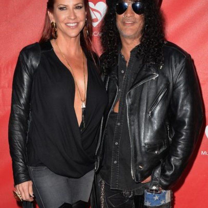 La pareja se casó en 2001 y en 2010, Slash ya había solicitado el divorcio por la misma razón. Sin embargo, la pareja se separó oficialmente en enero de 2015. Foto:Getty Images