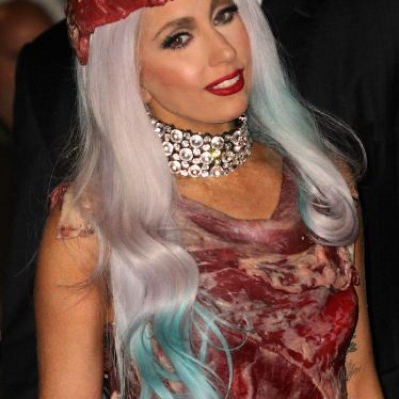 Han pasado 5 años desde que Lady Gaga utilizó este polémico vestido. Foto:Getty Images