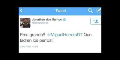 """Lo mismo ocurrió con Jonathan dos Santos, hermano de """"Gio"""" Foto:Twitter"""