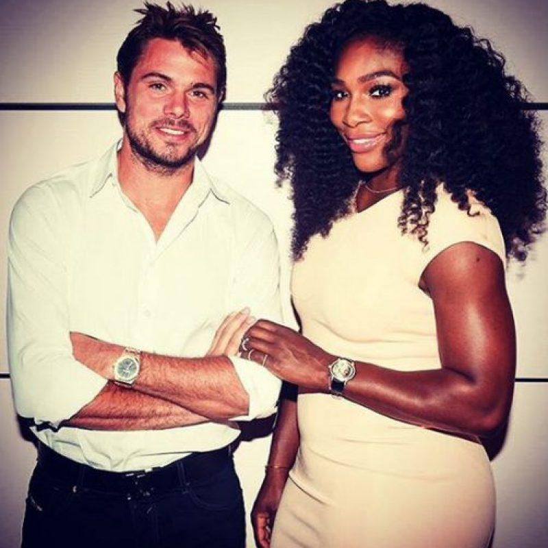 Stan Wawrinka compartió esta foto con Serena Williams previo al arranque del torneo. Foto:Vía instagram.com/stanwawrinka85