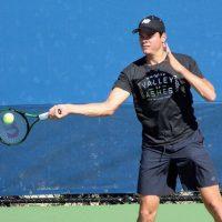 El canadiense Milos Raonic, número 10 del mundo, compartió esta foto de su entrenamiento. Foto:Vía instagram.com/mraonic