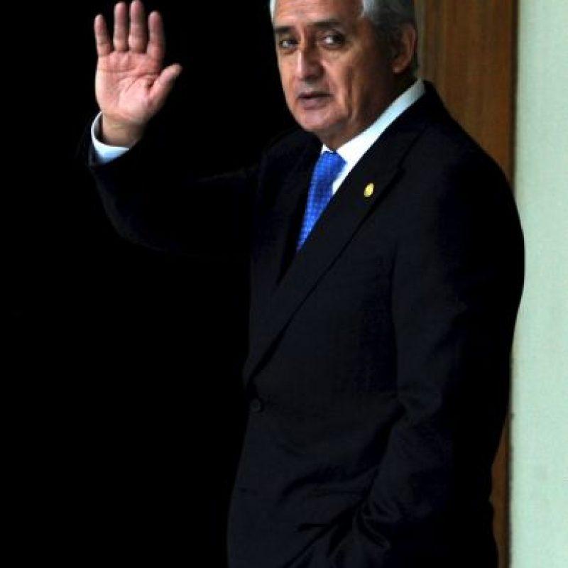 Su último evento como Presidente de Guatemala. Foto:AFP