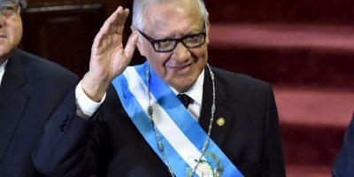 En su lugar quedo Alejandro Maldonado, exvicepresidente de Guatemala. Foto:AFP