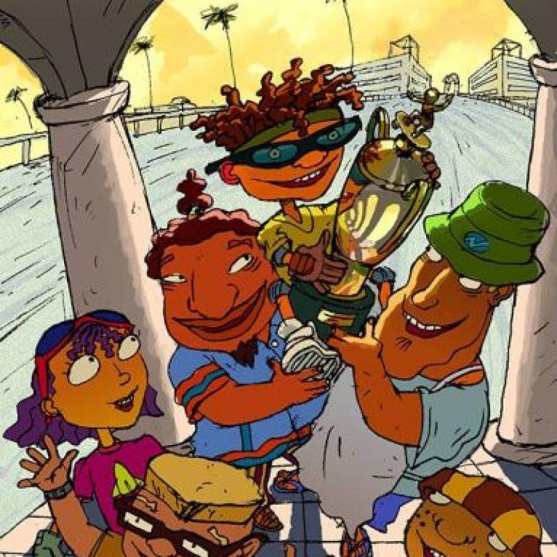"""Esta producción presentaba las vivencias de """"Otto"""", """"Reggie"""", """"Twister"""" y """"Sam"""", cuatro niños amantes de los deportes extremos. Foto:vía facebook.com/Rocket-Power"""