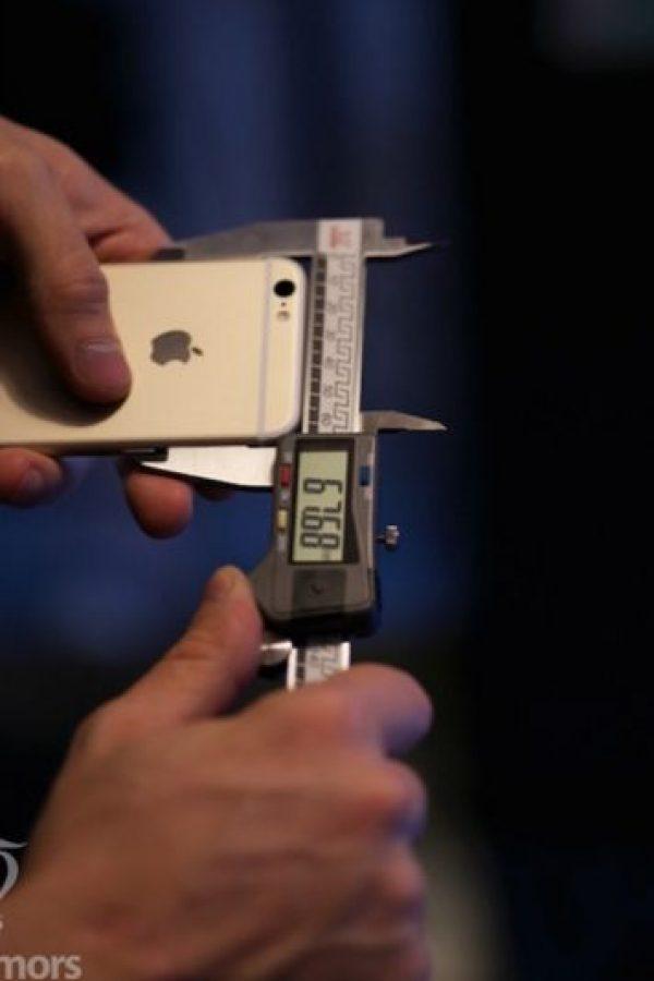 Anchura del iPhone 6s. Foto:Vía macrumors.com