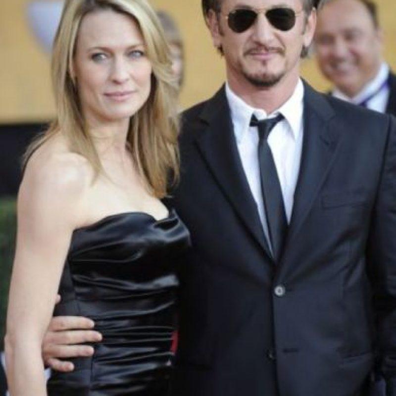 Antes de Charlize, Sean Penn tenía a Robin Wright, otra gran actriz. Foto:vía Getty Images