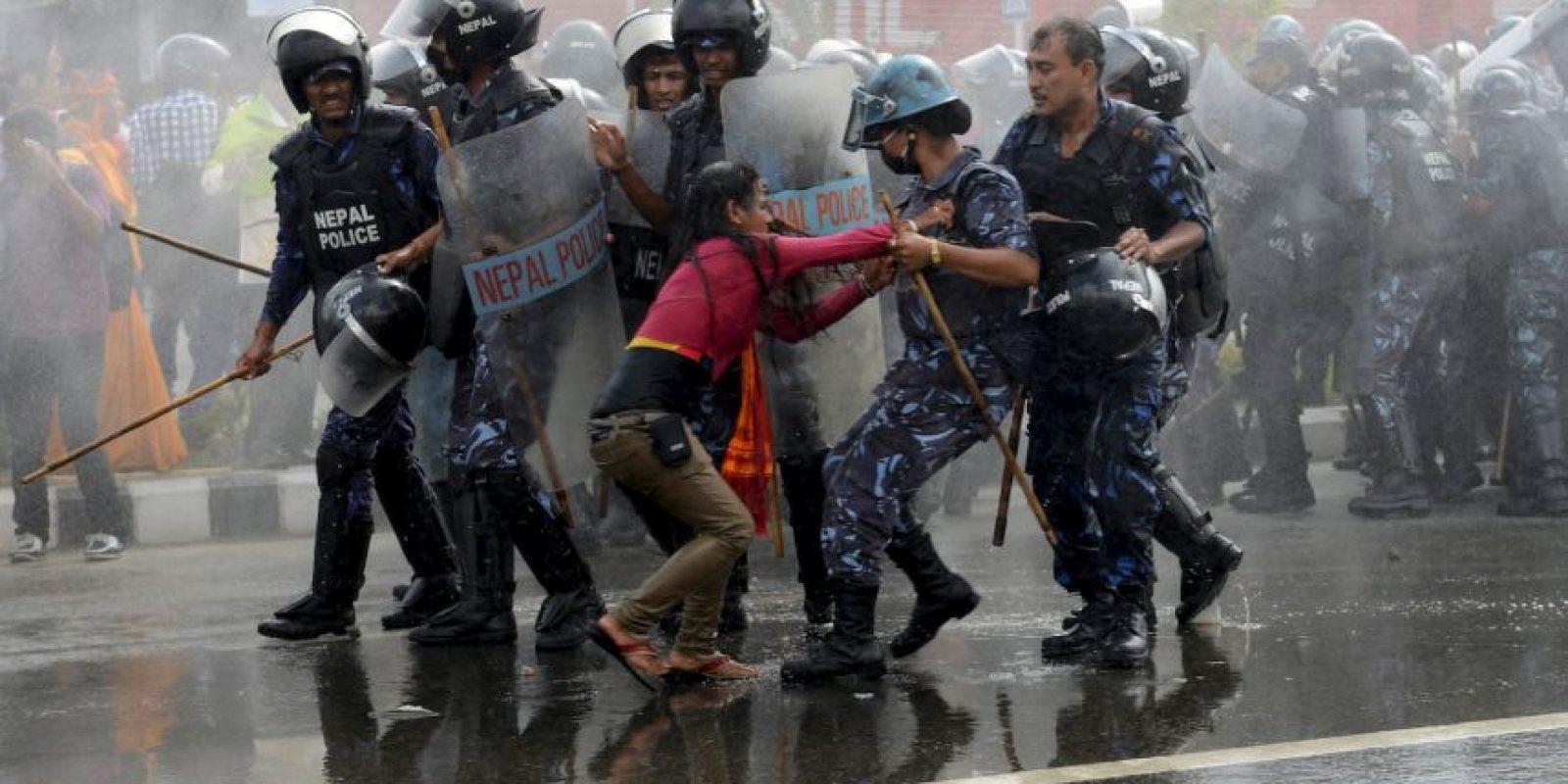 Protesta en Nepal. Foto:AFP