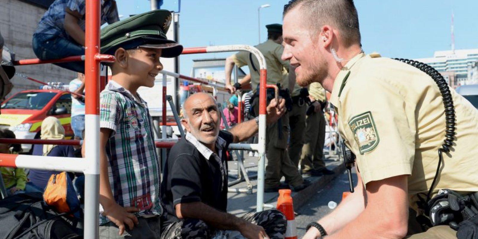Migrantes en Alemania. Foto:AFP