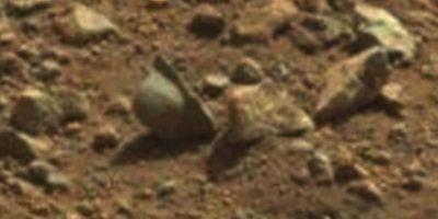 Supuesto casco de la Primera Guerra Mundial. Se encontró en abril de 2013 Foto:NASA