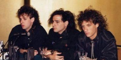 "Soda Stereo estaba integrado por: Héctor ""Zeta"" Bosio, Charly Alberti y Gustavo Cerati. Foto:Facebook/SodaStereo"