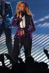 El 29 de agosto de 2011, anunció su embarazo en los premios MTV Video Music Awards. Foto:Getty Images