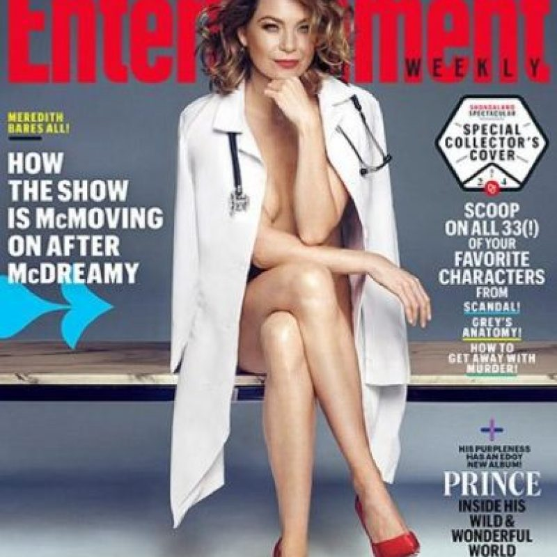 """Meredith"" de ""Grey's Anatomy"" posó desnuda para la edición de septiembre de la revista ""Entertainment Weekly"" Foto: ""Entertainment Weekly"""