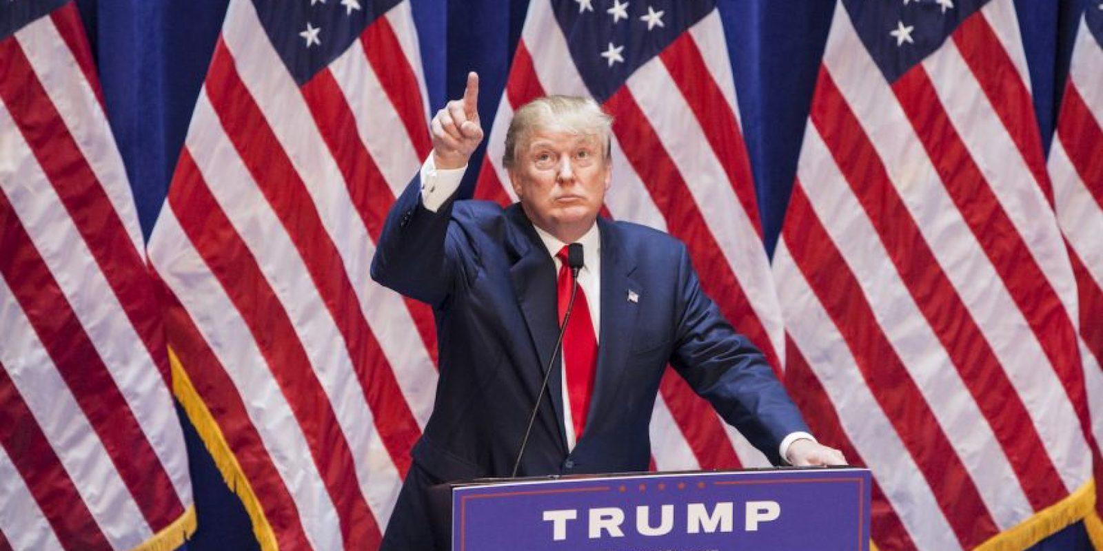 En las encuestas Trump ocupa el segundo lugar de los precandidatos republicanos. El primer lugar lo ocupa hasta ahora Jeb Bush. Foto:Getty Images