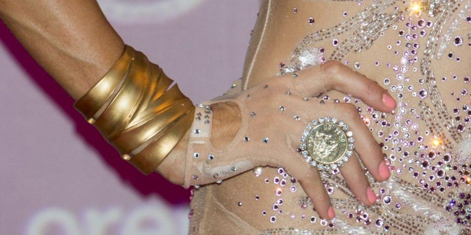 El anillo está valuado en 350 mil dólares. Foto:Getty Images