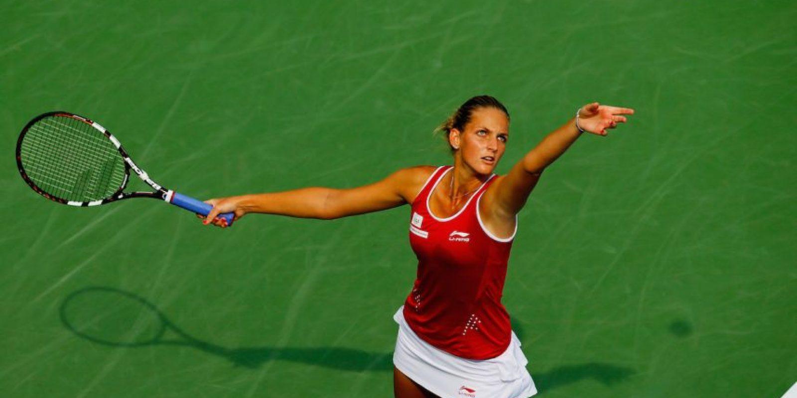 Se fue en la primera ronda, tras ser derrotada por la estadounidense Anna Tatishvilli, 121 del ranking WTA. Foto:Getty Images