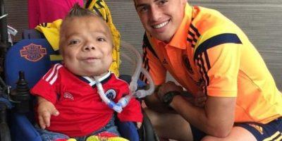 En octubre de 2014, James saludó a Cristopher en el estadio y al día siguiente en su hotel. Foto:instagram.com/jamesrodriguez10