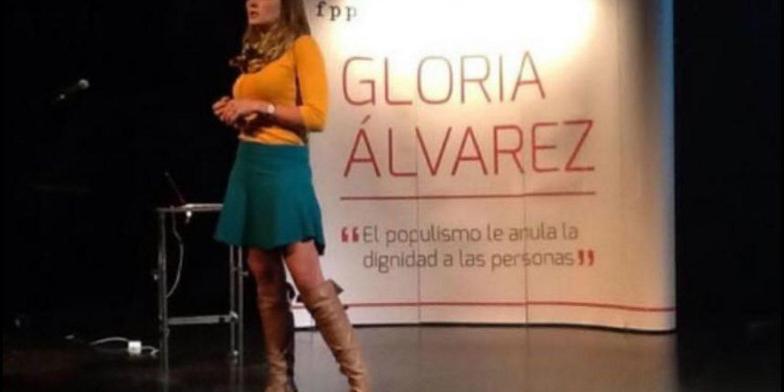 Tiene 30 años Foto:Facebook.com/GloriaAlvarez