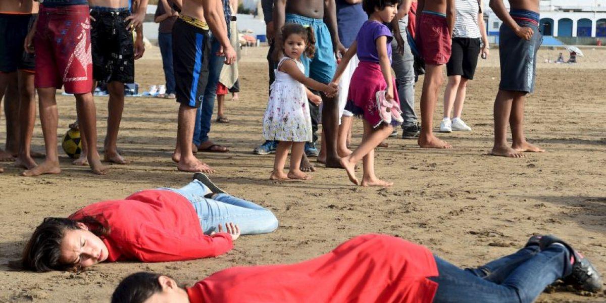 Fotos: Así han protestado por la muerte del niño de tres años en el mar