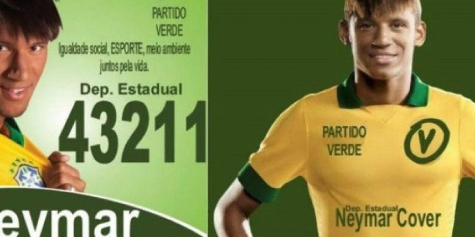 """Neymar"" Foto:Naosalvo.com.br"