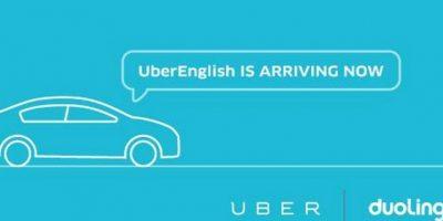 La finalidad es que puedan transportar a pasajeros extranjeros. Foto:Uber / Duolingo