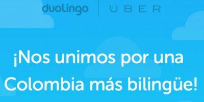 El servicio está disponible para conductores colombianos. Foto:Uber / Duolingo