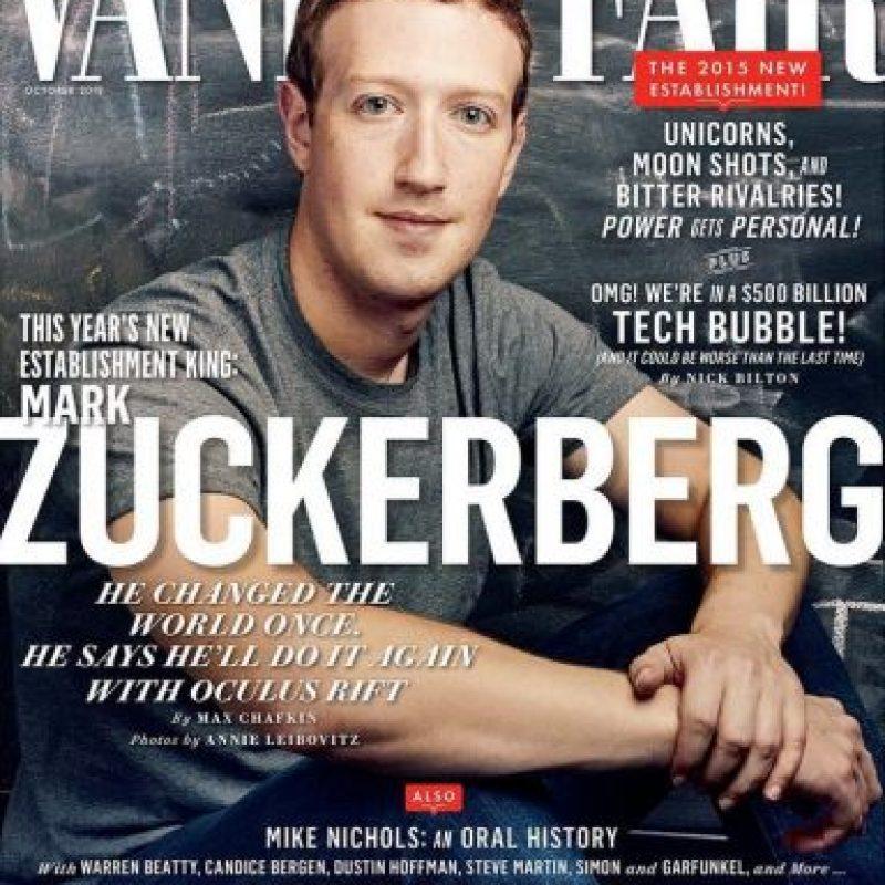 Mark Zuckerberg aparecerá en la edición de octubre de Vanity fair. Foto:instagram.com/vanityfair