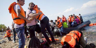"""""""Nadie puede prever cuántos refugiados llegarán, pero sí tenemos la voluntad firme de resolver este conflicto"""", dijo por su parte la canciller alemana Ángela Merkel. Foto:Getty Images"""