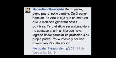 Esto contrastaba con su vida de violencia. Él y su madre le pidieron parar. Foto:vía Facebook/Sebastián Marroquín