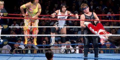 Lioness Asuka y Kyoko Inoue también usaron pintura en la década de los años 90 Foto:WWE