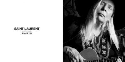 Joni Mitchell para Yves Saint Laurent. Foto:vía YSL