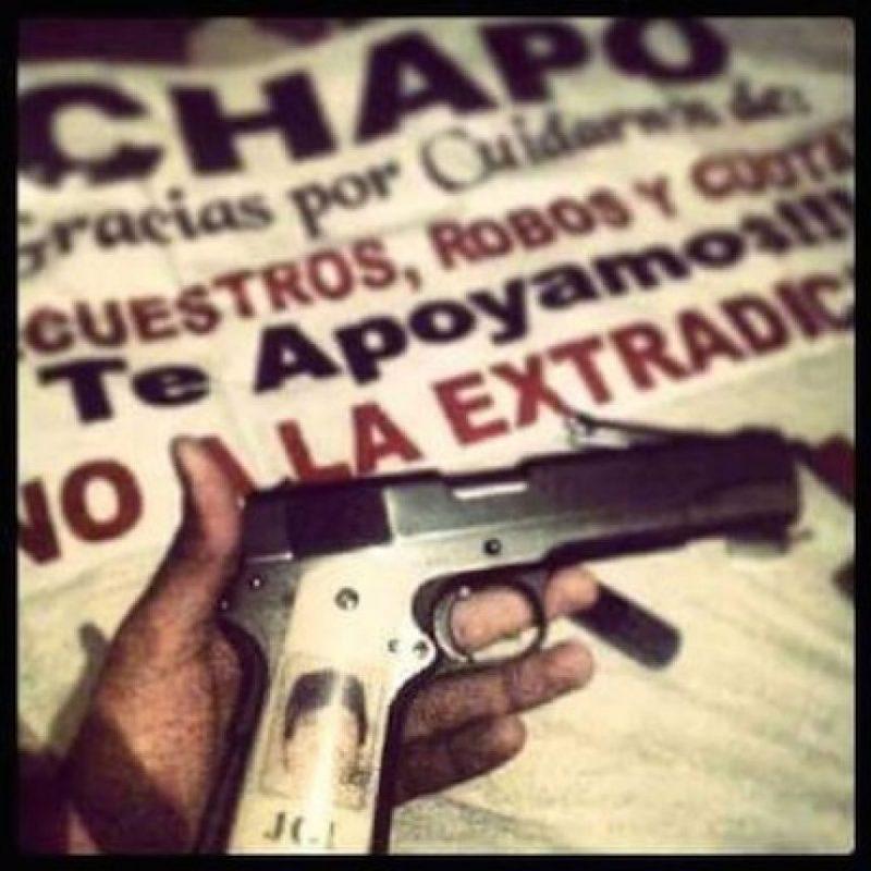 """4. Tributos a """"El Chapo Guzmán"""" Foto:Instagram.com/explore/tags/narco/"""