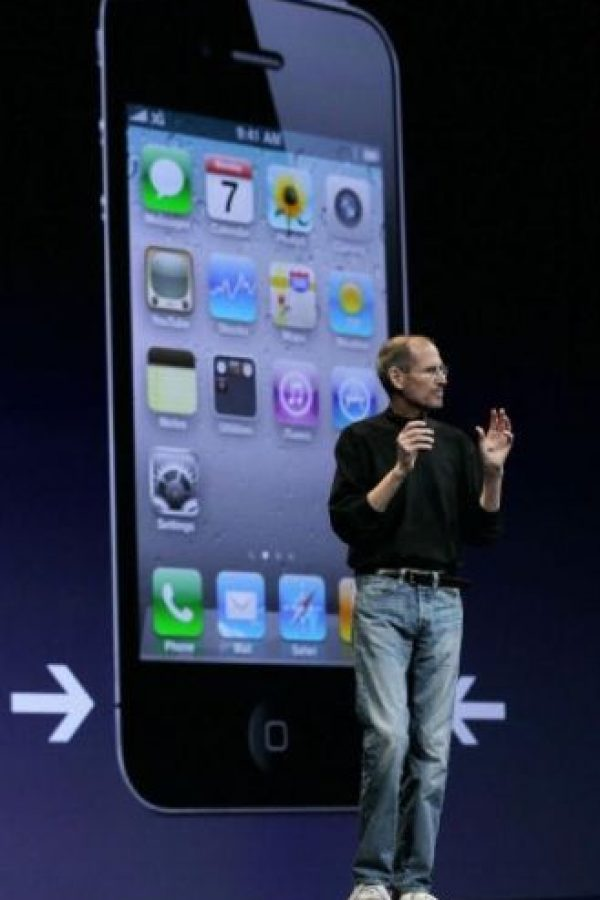 Steve Jobs anunció el iPhone 4 el 7 de junio de 2010 en la WWDC. Foto: Getty Images