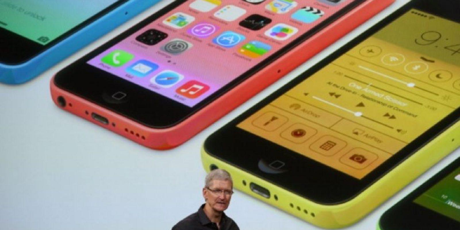 Tim Cook en la presentación del iPhone 5s y iPhone 5c el 10 de septiembre de 2013.
