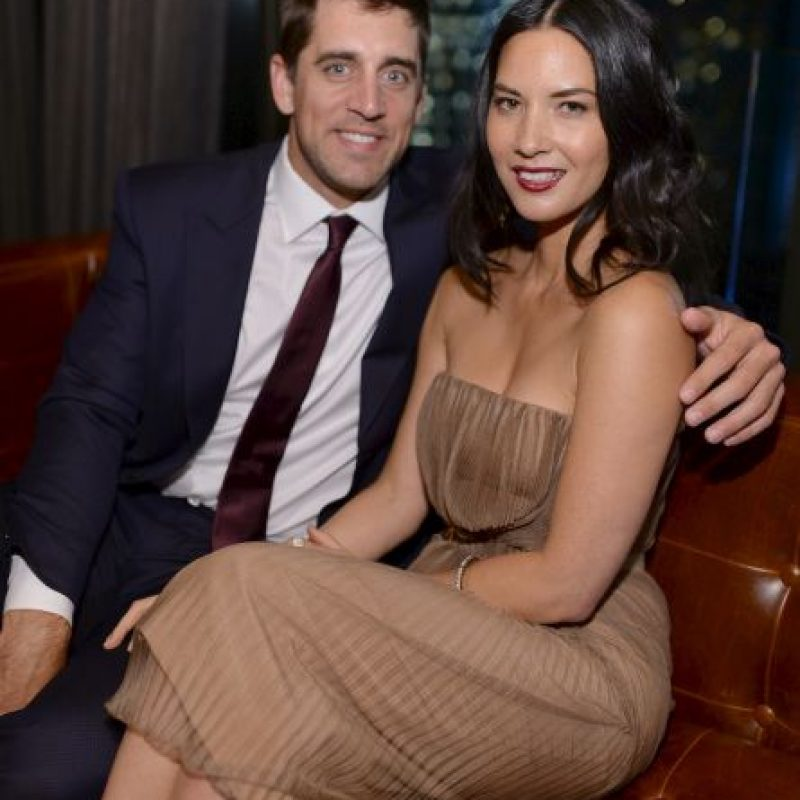 13. Olivia Munn (Aaron Rodgers/ Green Bay Packers) Foto: Getty Images