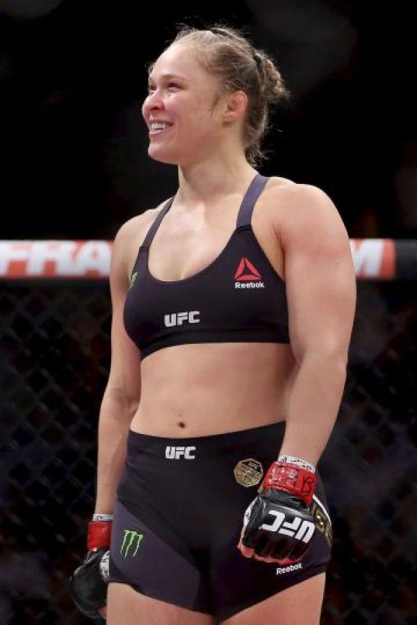 Ahora prepara su próxima pelea en la que volverá a defender su título, ahora ante Holly Holm. Foto:Getty Images