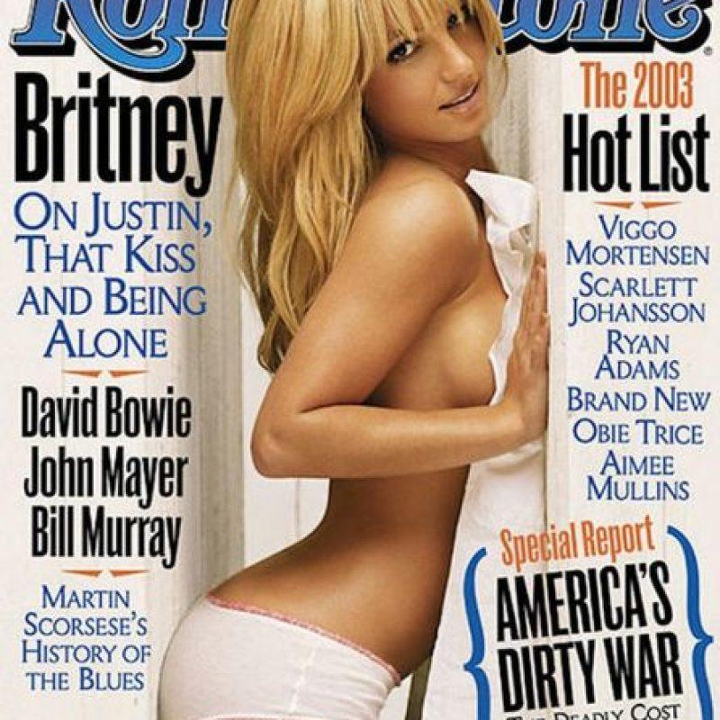 """En 2003, la diva posó sin camisa para la portada de """"Rolling Stones"""" Foto:Rolling Stones"""