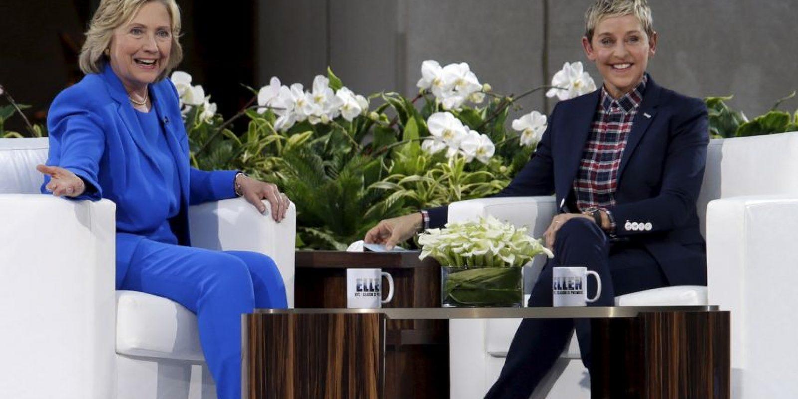 Hillary Clinton fue la invitada estrella del show de Ellen DeGeneres. Foto:AP