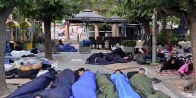En Atenas, Grecia, miles de refugiados viven en las calles. Foto:Getty Images